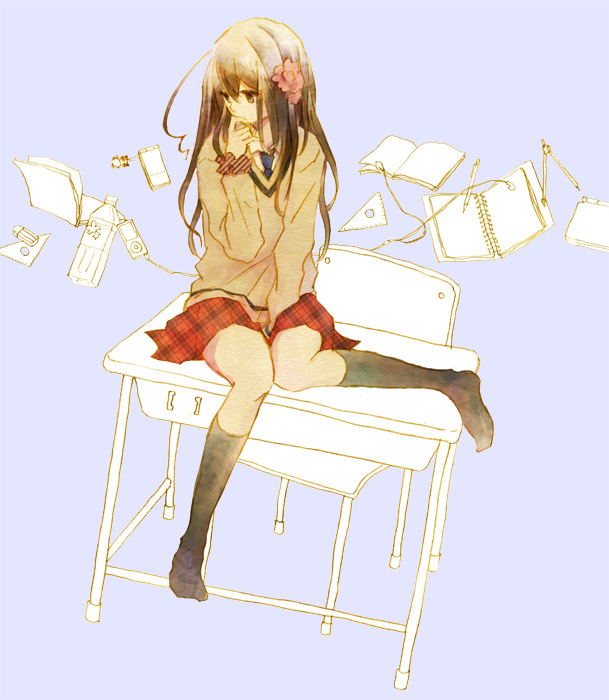 Tags: Anime, Sakuko, Axis Powers: Hetalia, Taiwan, Sitting On Table, Gakuen Hetalia, Pixiv