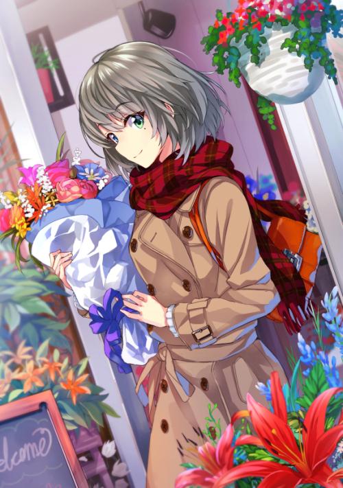 Tags: Anime, Mirai Denki, THE iDOLM@STER: Cinderella Girls, Takagaki Kaede, Mobile Wallpaper