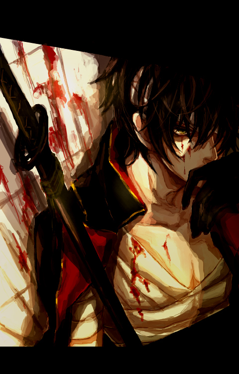 Tags: Anime, Kuro (Pixiv12803091), Gintama, Takasugi Shinsuke, Mobile Wallpaper, Fanart, Pixiv