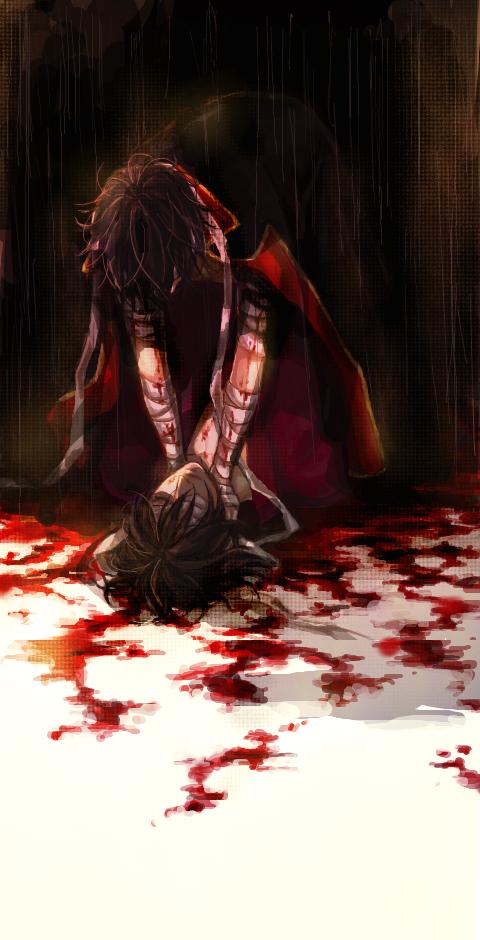 Tags: Anime, Kuro (Pixiv12803091), Gintama, Takasugi Shinsuke, Hand on Neck, Choking, Pixiv, Joui War, Fanart