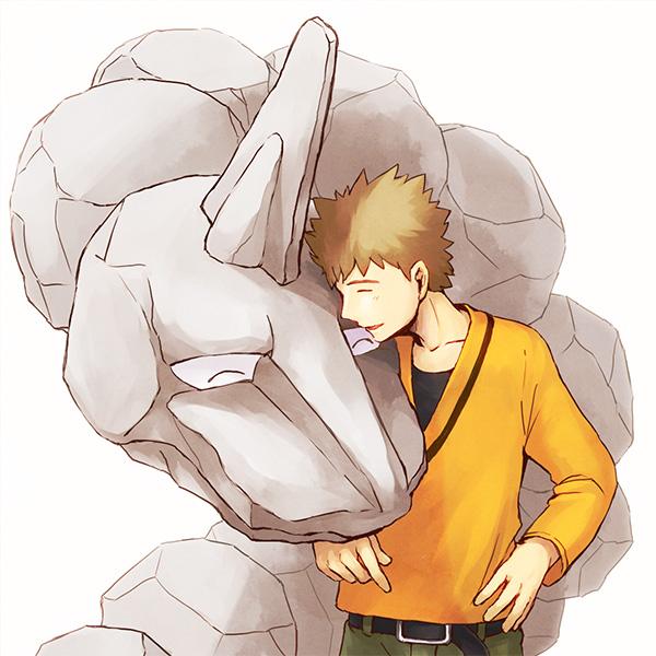 Tags: Anime, Inunoya, Pokémon, Onix, Takeshi (Pokémon), Brock
