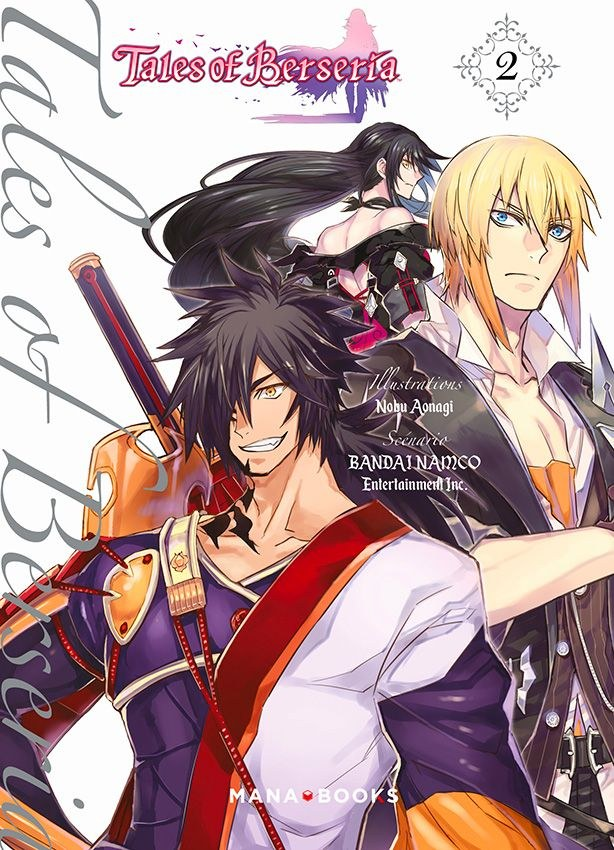 Tags: Anime, Tales of Berseria, Eizen (Tales of Berseria), Rokurou Rangetsu, Velvet Crowe, Official Art, Manga Cover, Scan