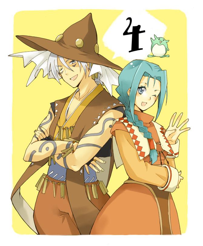 Tags: Anime, K-mame, Tales of Phantasia, Milard Rune, Klarth Lester, Pixiv