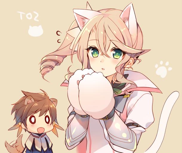 Tags: Anime, Mayachi (Amuriya), Tales of Zestiria, Alisha Diefda, Sorey (Tales of Zestiria), PNG Conversion