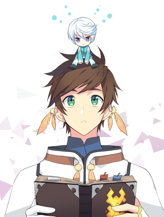 Tags: Anime, Pixiv Id 7167330, Tales of Zestiria, Sorey (Tales of Zestiria), Mikleo (Tales of Zestiria), Giant, Mobile Wallpaper, PNG Conversion