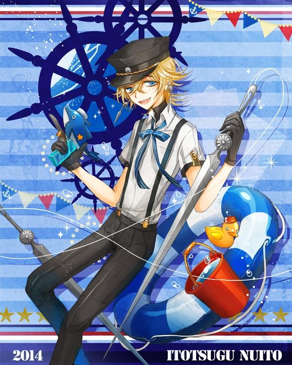 Tags: Anime, Pixiv Id 3070937, Rubber Duck, Water Gun, Striped Ribbon, PNG Conversion, Pixiv, Tamahagane Gakuen Touransai, Original