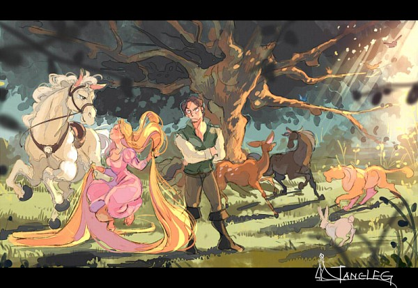 Tags: Anime, Rabbit, Horse, Lion, Deer, Rapunzel, Gori Matsu