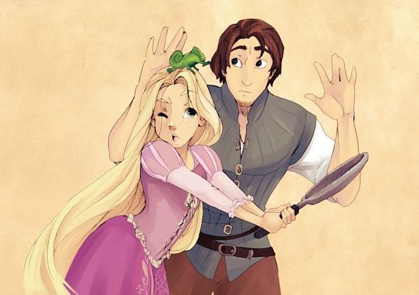 Tags: Anime, Princess, Rapunzel, Lizard, Cooking Pan, Disney, Rapunzel (Character)