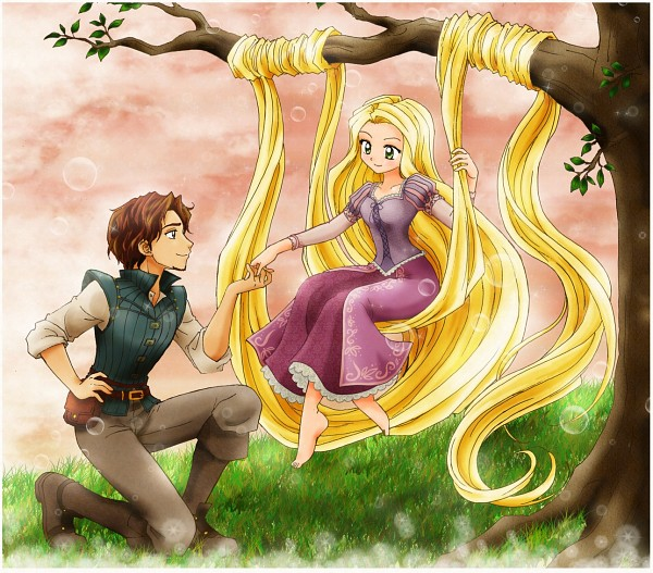 Tags: Anime, Rapunzel, Disney, Rapunzel (Character), chikorita85, Flin Raider (Eugene Fitsgerbert), Tangled (Disney)