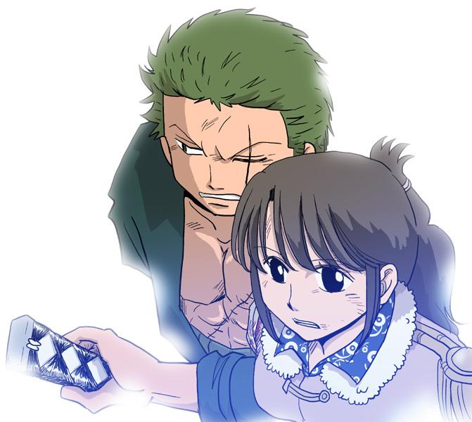 Tags: Anime, Pixiv Id 854754, ONE PIECE, Roronoa Zoro, Tashigi, Fanart, Pixiv, Fanart From Pixiv, One Piece: Two Years Later, ZoShigi, Marine (ONE PIECE)