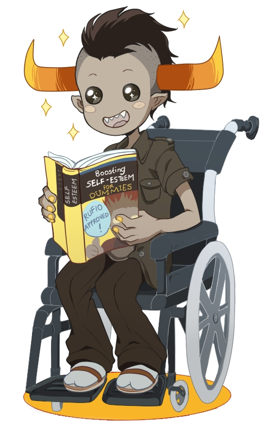 Tags: Anime, Sarakrista, Homestuck, Tavros Nitram, Wheelchair, Wheel, Tumblr, Fanart