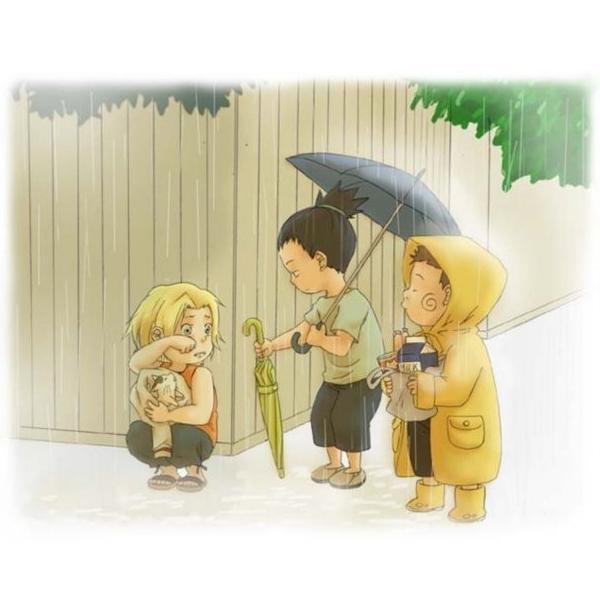 Tags: Anime, NARUTO, Yamanaka Ino, Nara Shikamaru, Akimichi Chouji, Rain Coat, Team 10