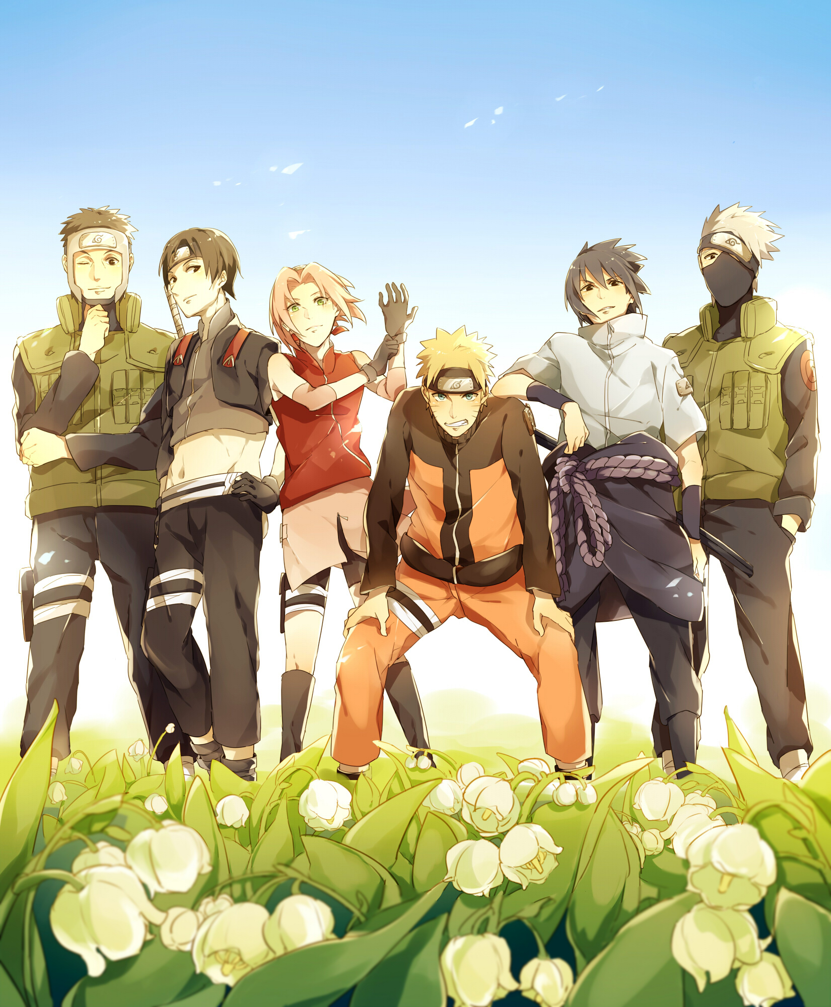 Naruto shippden zerochan anime image board team 7 download team 7 image voltagebd Image collections