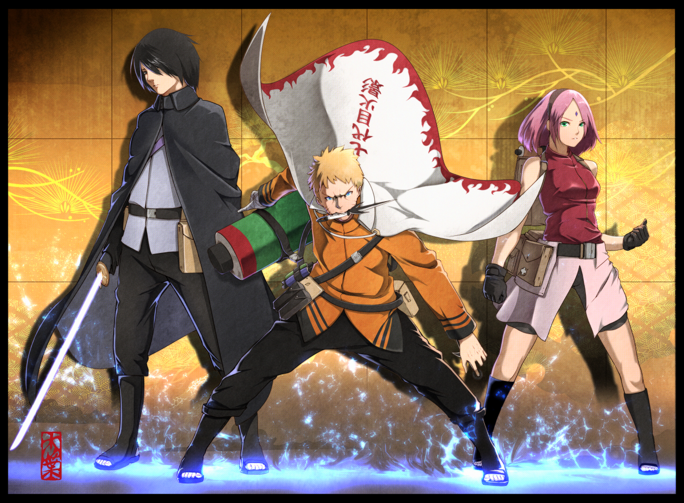 Team 7 Naruto Image 1950810 Zerochan Anime Image Board