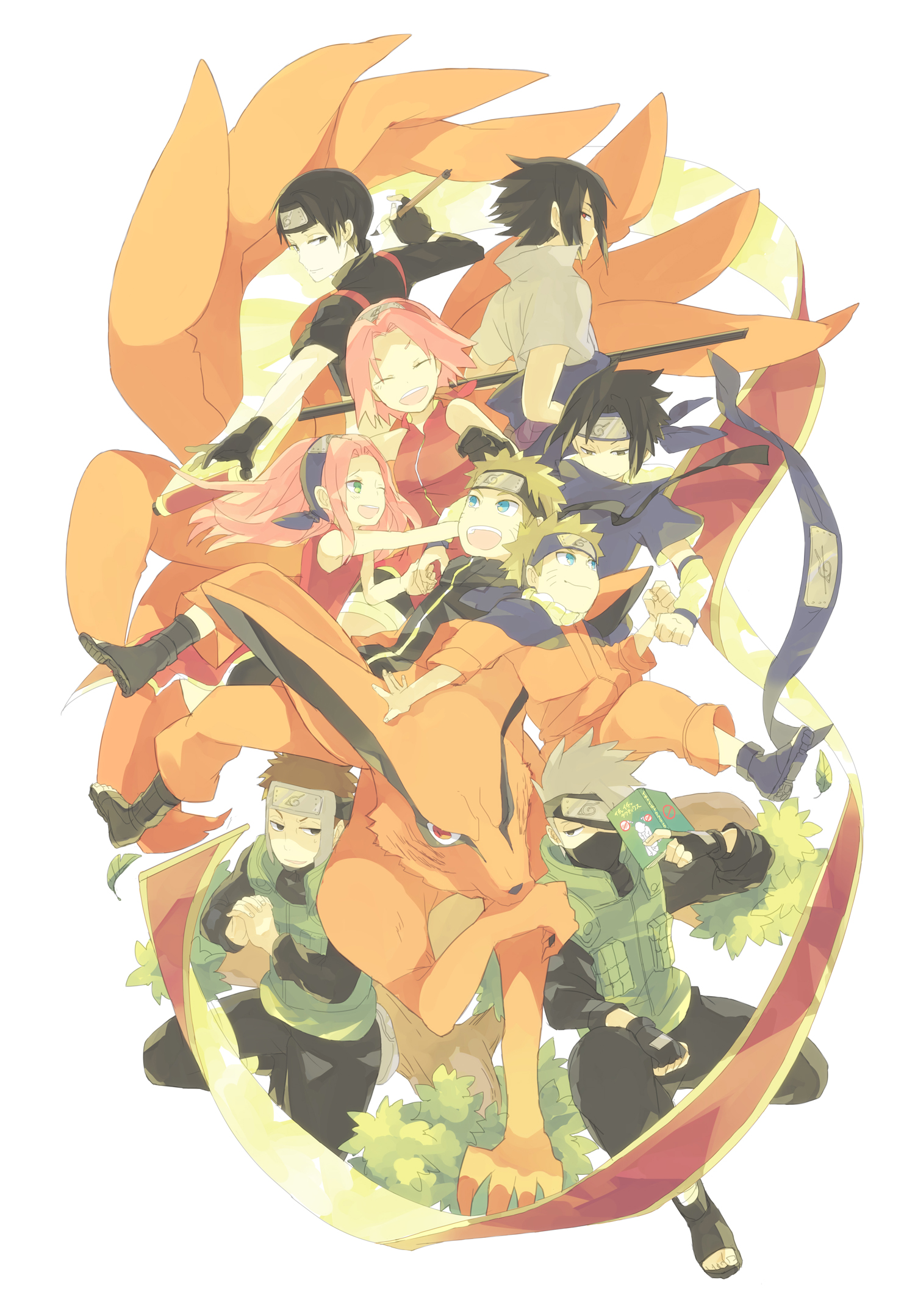 team 7 naruto mobile wallpaper 2014319 zerochan anime image board. Black Bedroom Furniture Sets. Home Design Ideas