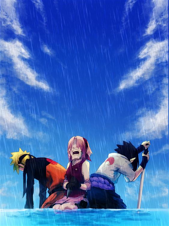 Tags: Anime, Pixiv Id 535163, NARUTO: SHIPPŪDEN, NARUTO, Uchiha Sasuke, Uzumaki Naruto, Haruno Sakura, Pixiv, Fanart, Fanart From Pixiv, Team 7