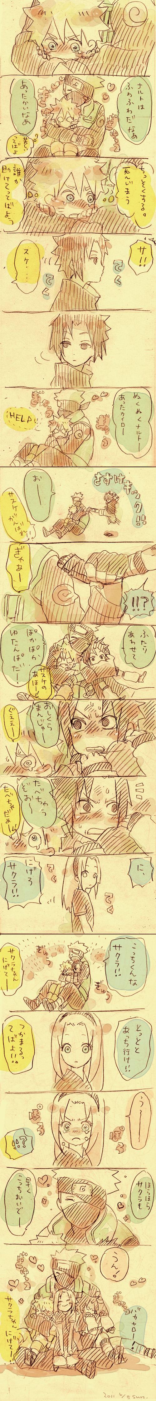 Tags: Anime, Yuhka, NARUTO, Haruno Sakura, Hatake Kakashi, Uchiha Sasuke, Uzumaki Naruto, Jinchuuriki, Team 7