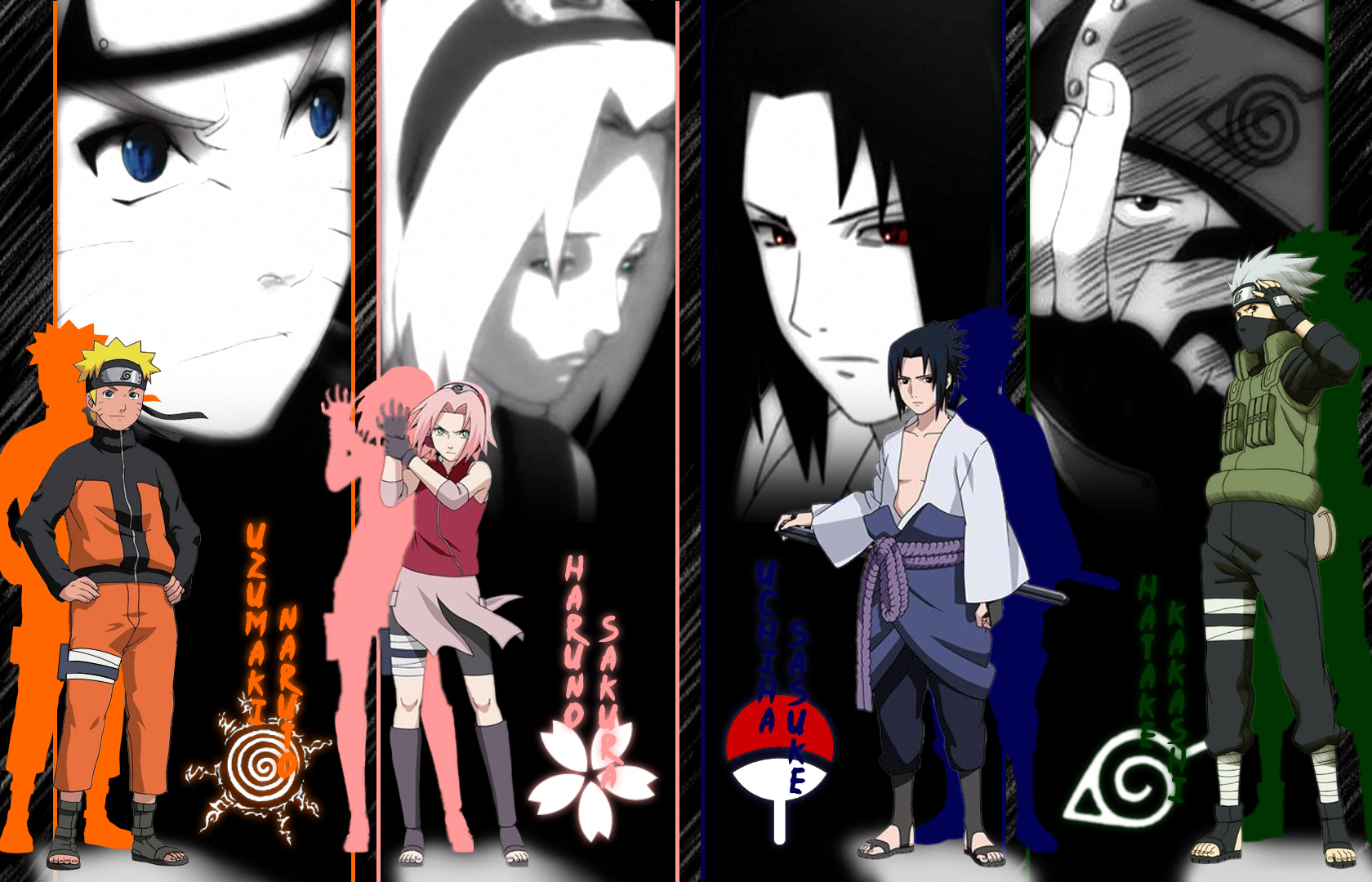 team 7 - naruto - wallpaper #68622 - zerochan anime image board