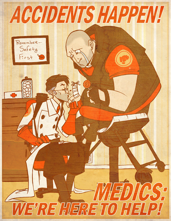 Tags: Anime, Team Fortress 2, Medic (Tf2), Doctor, Heavy (Tf2)