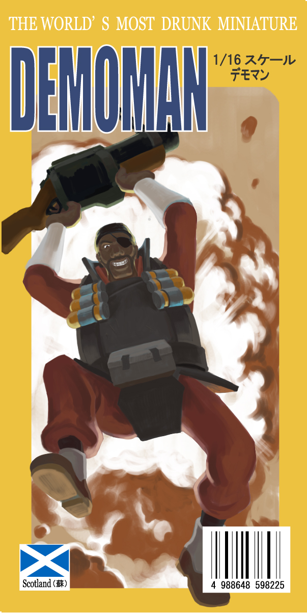 Tags: Anime, Team Fortress 2, Demoman, Grenade Launcher