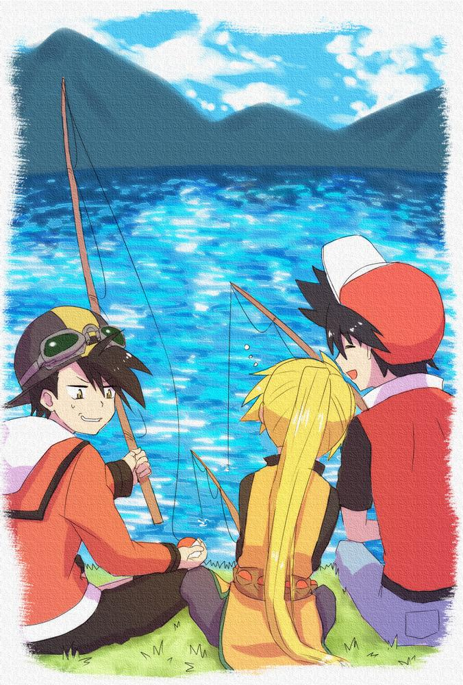 Tags: Anime, Teno, Pokémon SPECIAL, Gold (Pokémon SPECIAL), Yellow (Pokémon Special), Red (Pokémon SPECIAL), Fanart, Fanart From Pixiv, Pixiv, Team Lightning