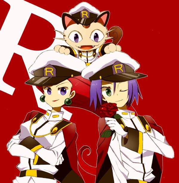 Tags: Anime, Mochi730, Pokémon, Meowth, Kojirou (Pokémon), Musashi (Pokémon), Team Rocket