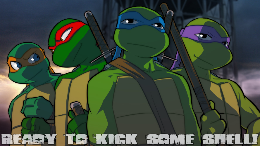 Tags: anime, teenage mutant ninja turtles, leonardo (tmnt), donatello