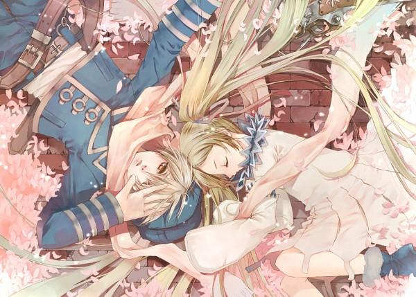 Tags: Anime, Pixiv Id 519341, Tegami Bachi, Lag Seeing, Niche, Spring, Fetal Position