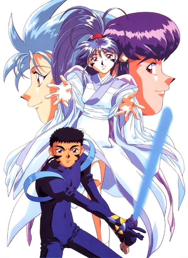 Tags: Anime, Kajishima Masaki, Geneon Pioneer, Anime International Company, Tenchi Muyo! Ryo-Ohki, Masaki Tenchi, Achika Masaki, Hakubi Ryouko, Masaki Aeka Jurai, Official Art, Scan