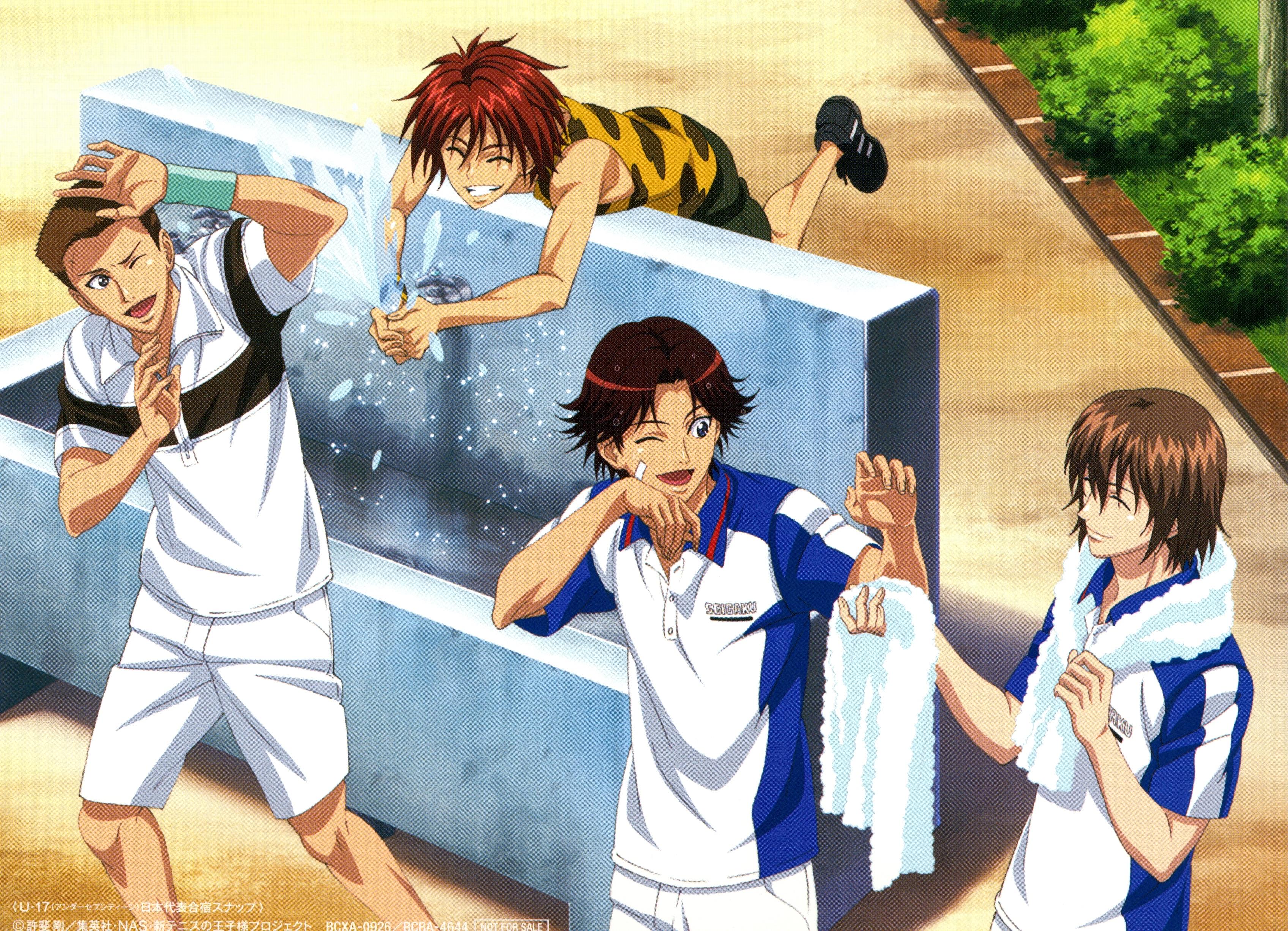 Prince Of Tennis equipo jugando