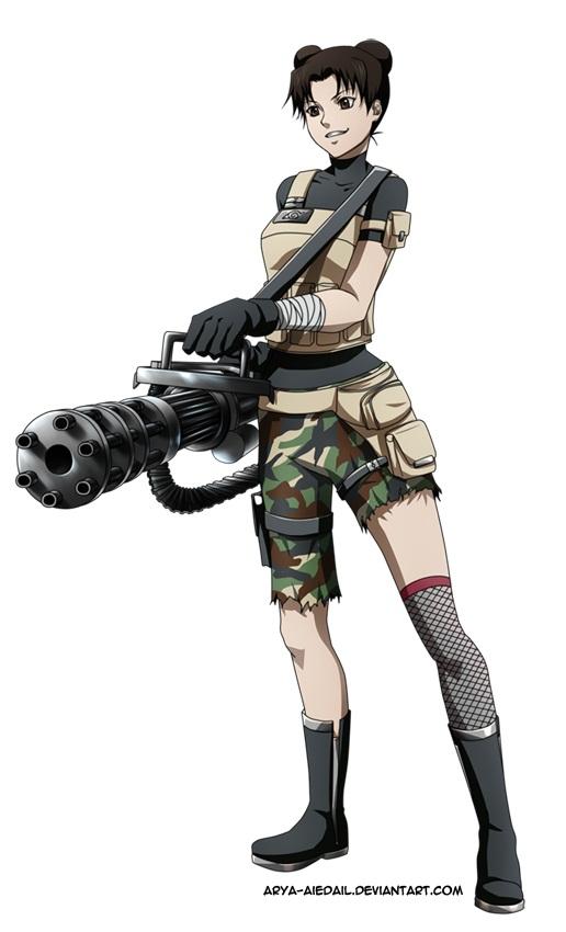 Tags: Anime, Cinzia, NARUTO, Tenten, Machine Gun, deviantART, Mobile Wallpaper, Fanart From DeviantART, Fanart