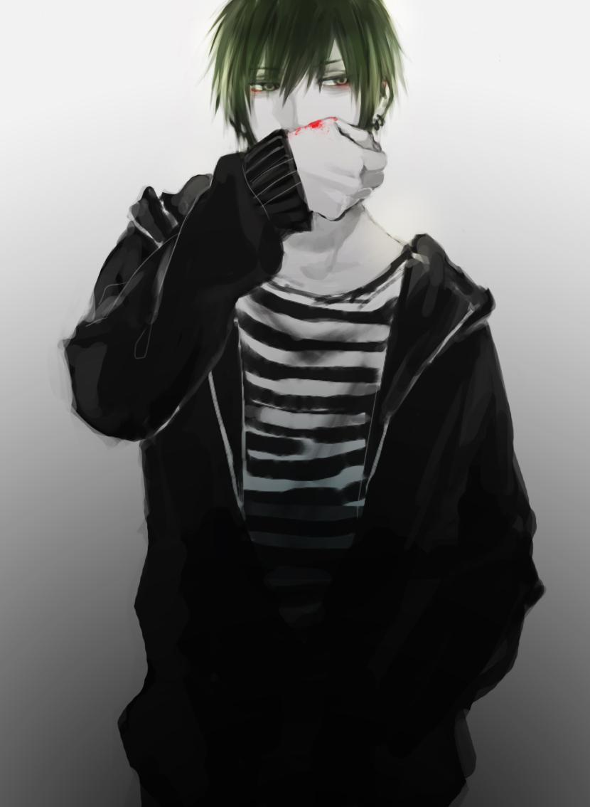 Solo Green Hair Original Male Zerochan Anime Image Board
