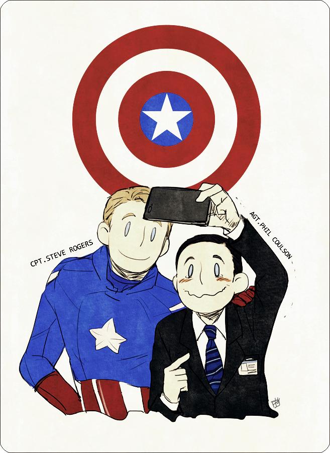 Tags: Anime, Pixiv Id 1827515, The Avengers, Phil Coulson, Captain America, Badge, Pixiv, Fanart From Pixiv, Fanart, Mobile Wallpaper, Marvel