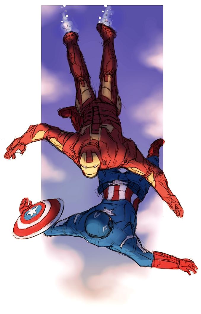 Tags: Anime, Iron Man, The Avengers, Captain America, Iron Man (Character), Marvel, Mobile Wallpaper