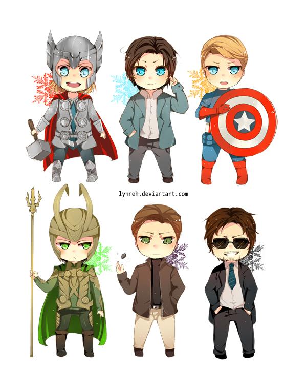 Tags: Anime, Lynneh, X-Men, Iron Man, The Avengers, Charles Xavier, Thor Odinson, Steven Rogers, Erik Lensherr, Iron Man (Character), Loki Laufeyson, Captain America, Magneto