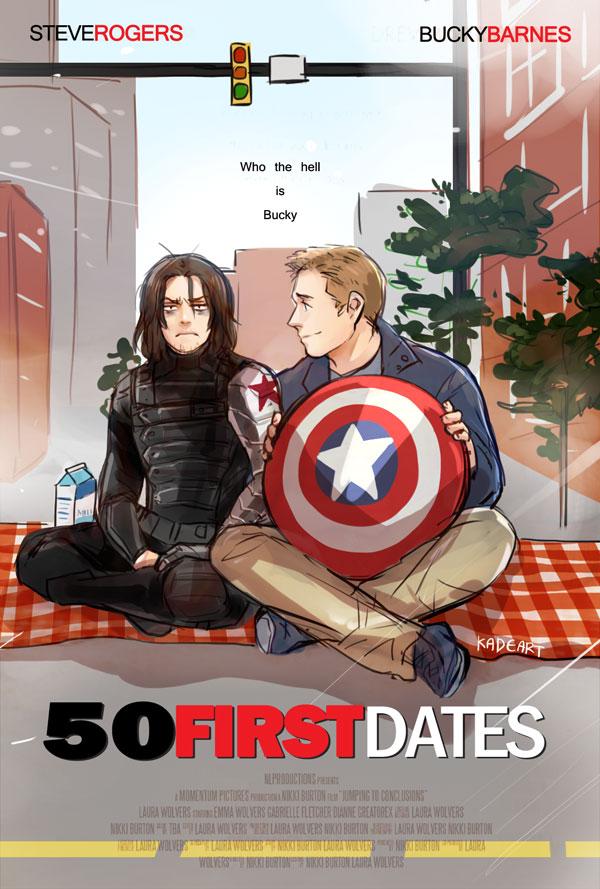 Tags: Anime, Kadeart, The Avengers, Steven Rogers, Captain America, James Buchanan Barnes, Milk Carton, Movie Parody, Picnic, Marvel, Mobile Wallpaper