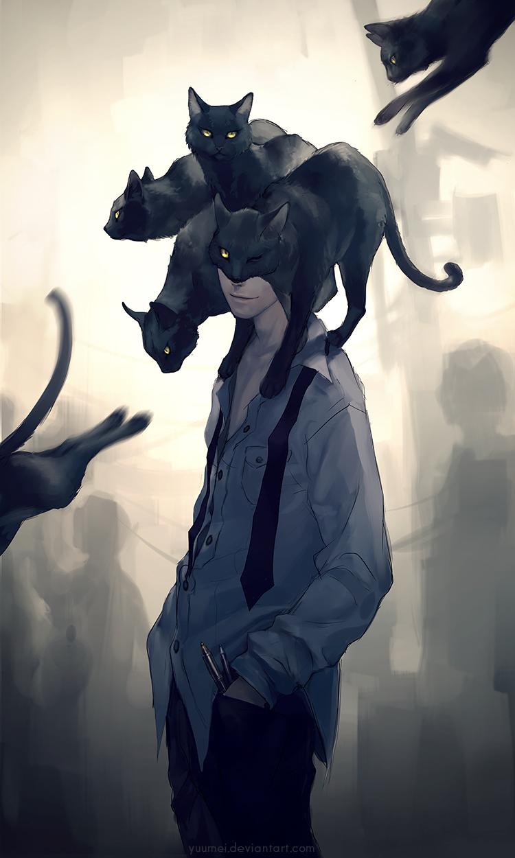 Black Cat Animal Zerochan Anime Image Board