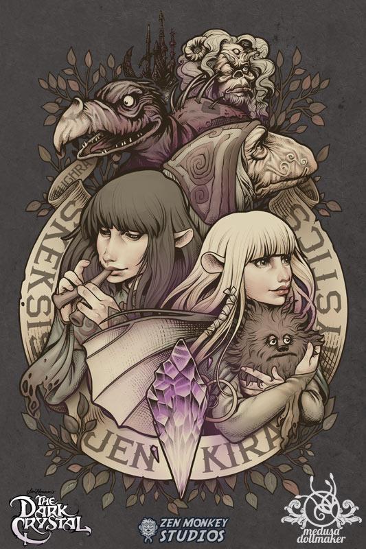 Tags: Anime, Medusa-dollmaker, The Dark Crystal, Aughra, Kira (The Dark Crystal), Jen (The Dark Crystal), Fanart From DeviantART, deviantART, Fanart