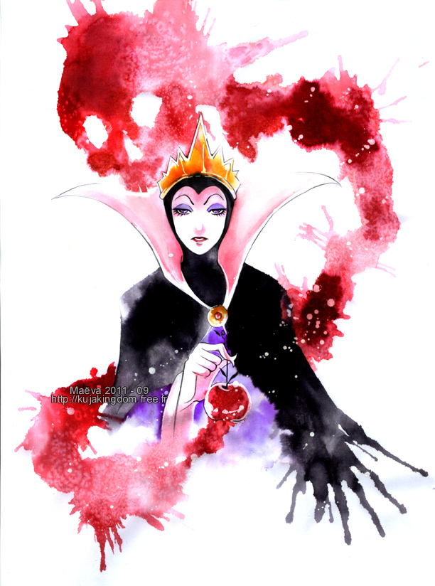 Tags: Anime, Maevachan, Snow White and the Seven Dwarfs, Snow White and the Seven Dwarfs (Disney), The Evil Queen, Traditional Media, Disney, Fanart, Watercolor, deviantART