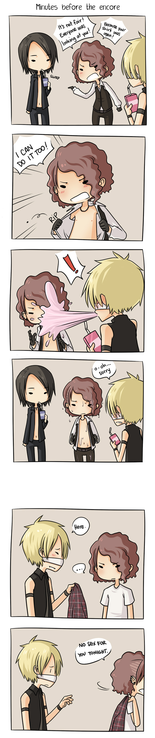 Tags: Anime, Reita (The GazettE), Ruki (The GazettE), Aoi (The GazettE), Patch On The Nose, Artist Request, Comic, The GazettE