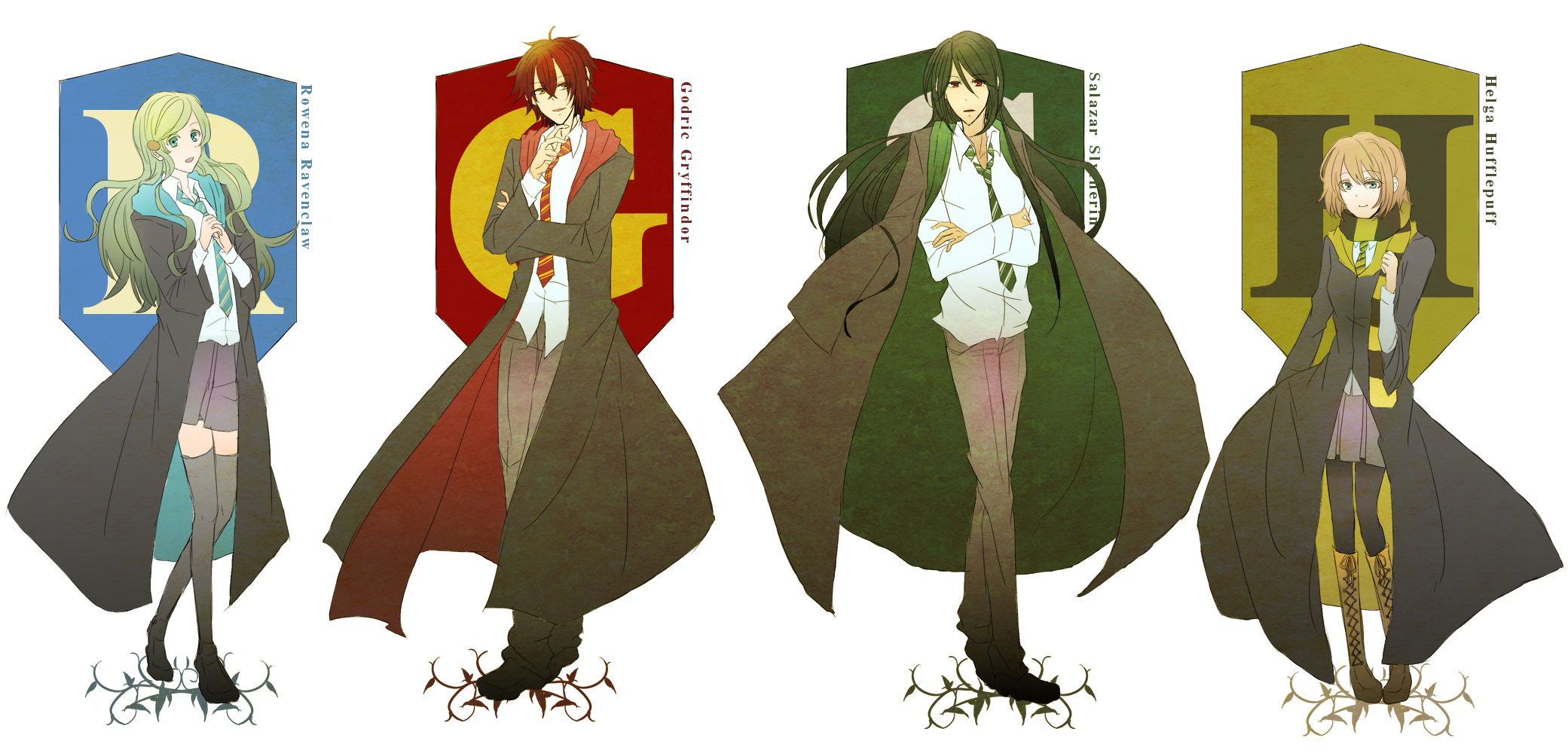 Anime Characters Hogwarts Houses : The hogwarts founders  zerochan