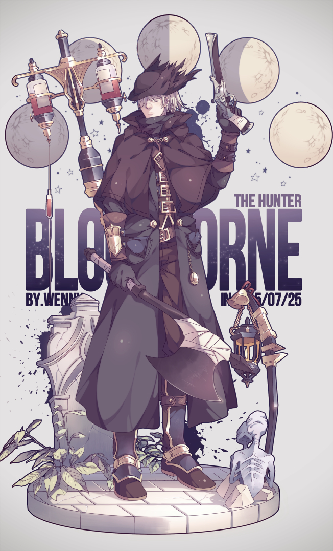 Tags: Anime, Pixiv Id 2504891, Bloodborne, Bath Messengers, The Hunter (Bloodborne), Aiming Up, Pixiv, Fanart, Mobile Wallpaper, Fanart From Pixiv, PNG Conversion