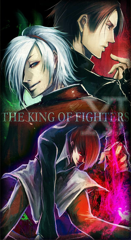 Tags: Anime, Asahi Manyou, SNK Playmore, The King of Fighters, Ash Crimson, Yagami Iori, Kusanagi Kyou, Fanart, Pixiv