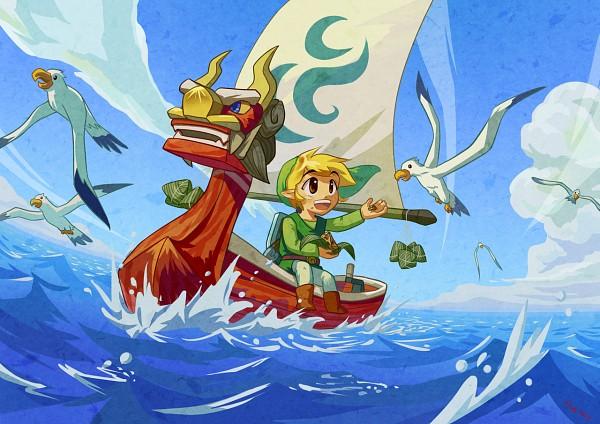 Tags: Anime, Ocean, Elf, Green Outfit, Nintendo, The Legend of Zelda, Link