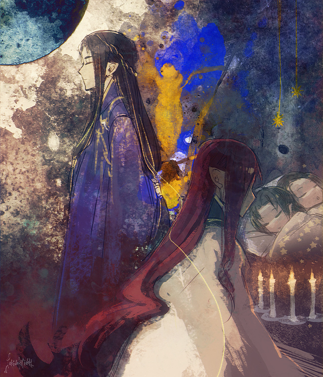 Tags: Anime, Pixiv Id 340793, The Lord of the Rings, Maedhros, Elrond, Elros, Maglor, Pixiv, House of Fëanor