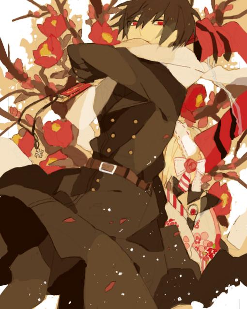 Tags: Anime, Akina422, The Miyama-Uguisu Mansion Incident, Night (The Miyama-Uguisu Mansion Incident), Miyama-Uguisa Monaka, Pomegranate Flower, Pixiv, Fanart, PNG Conversion