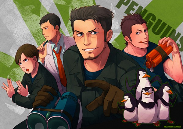 Tags: Anime, Pixiv Id 2068168, The Penguins of Madagascar, Skipper (The Penguins of Madagascar), Rico (The Penguins of Madagascar), Kowalski (The Penguins of Madagascar), Private (The Penguins of Madagascar)