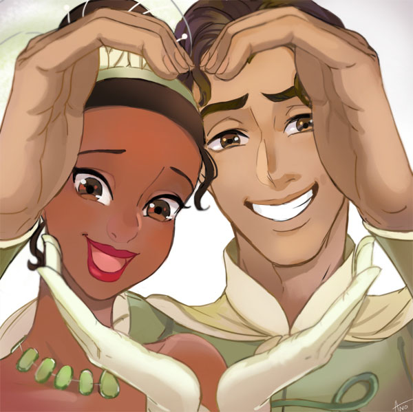 Tags: Anime, Ano (Pixiv131048), Frog Prince, The Princess and the Frog, Tiana (Frog Prince), Prince Naveen, Fanart From Pixiv, Pixiv, Fanart, Disney