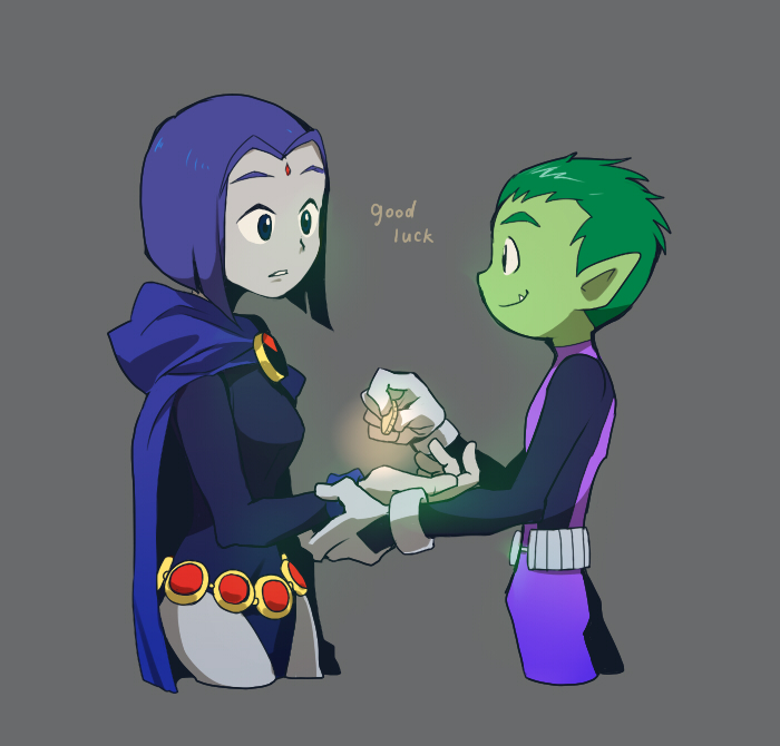 ... Green Skin, DC Comics, The Teen Titans, Raven (Teen Titans), Beast Boy