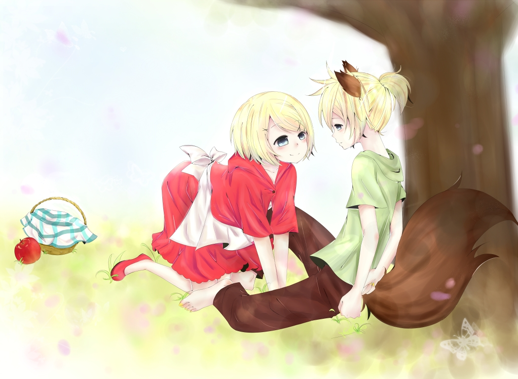 Anime red riding hood and wolf love pictures to pin on pinterest the wolf that fell in love sciox Choice Image
